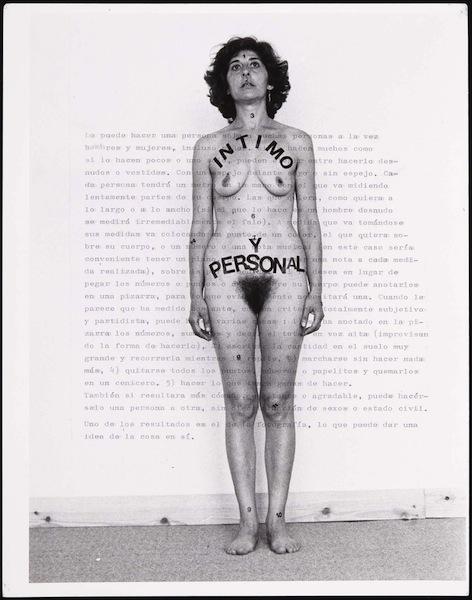 'Íntimo y personal', obra de Esther Ferrer.