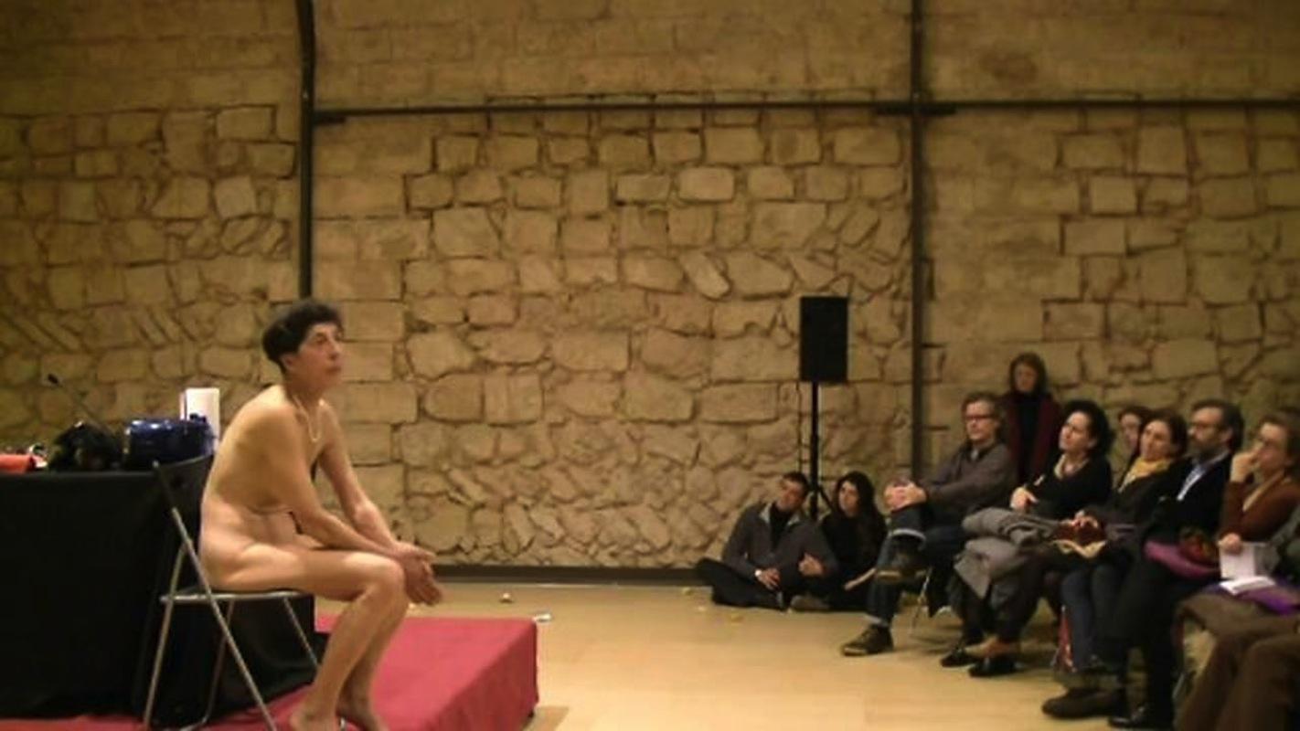 Esther Ferrer en un extracto de 'El arte de la performance: teoria practica vimeo