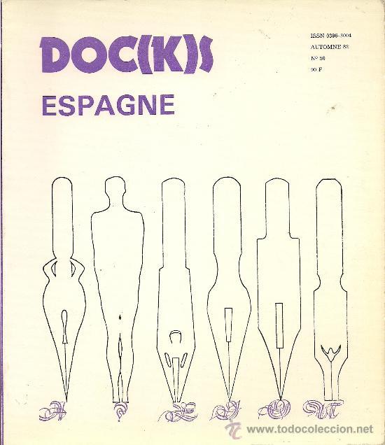 Portada de DOC(K)S, revista de poesía experimental, num50, monográfico Espagne, Paris, 1982.