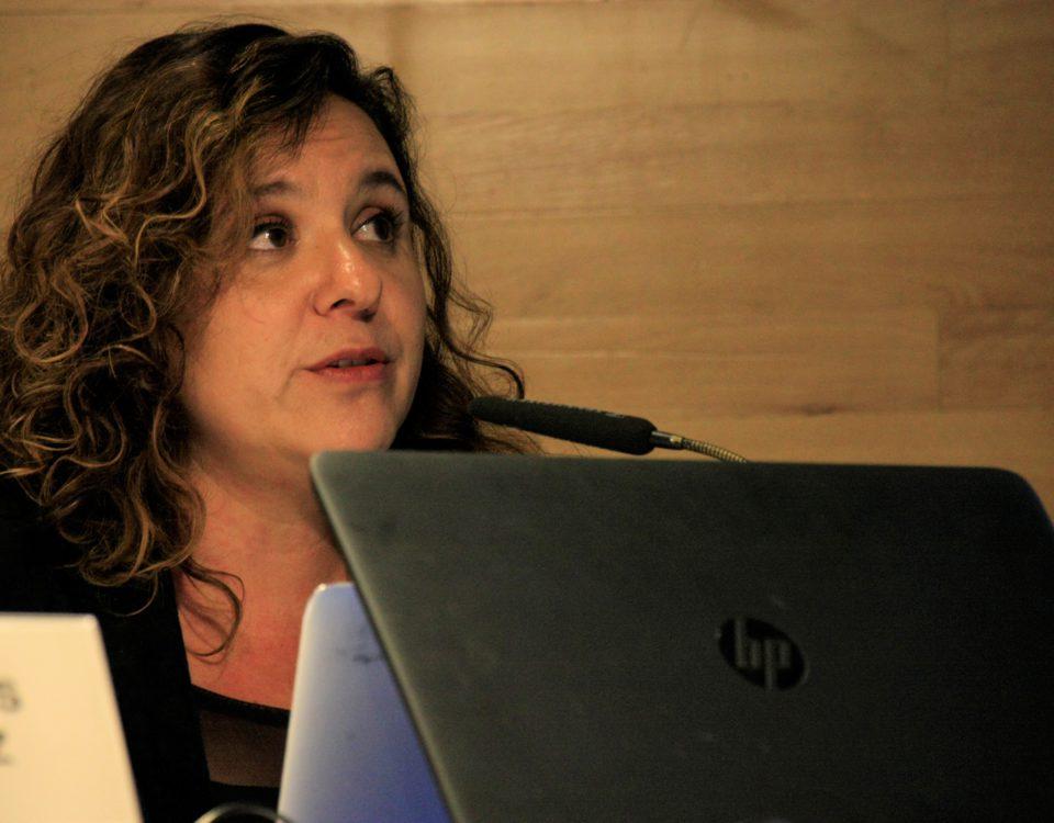 Marcela Turati, durante su ponencia en La Casa Encendida de Madrid. / Foto: María Rado