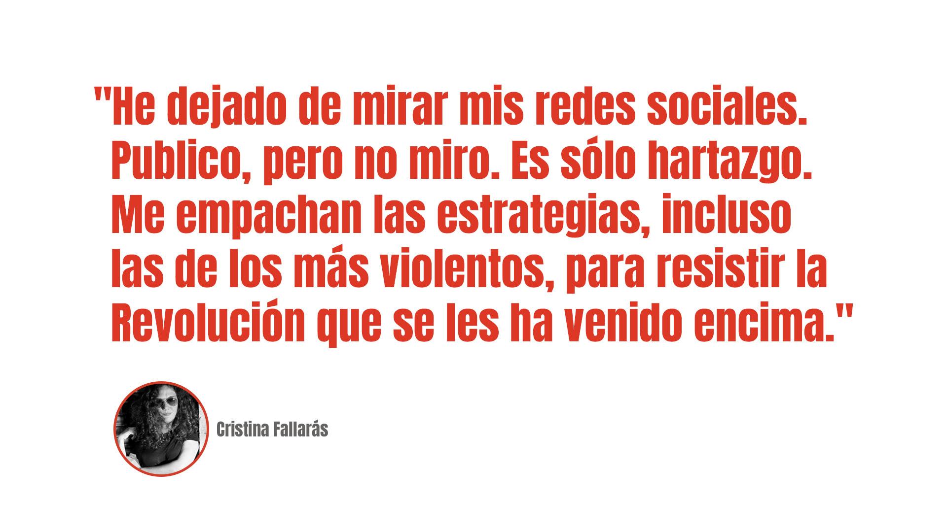 Cristina Fallarás: Su paupérrima estrategia de resistencia