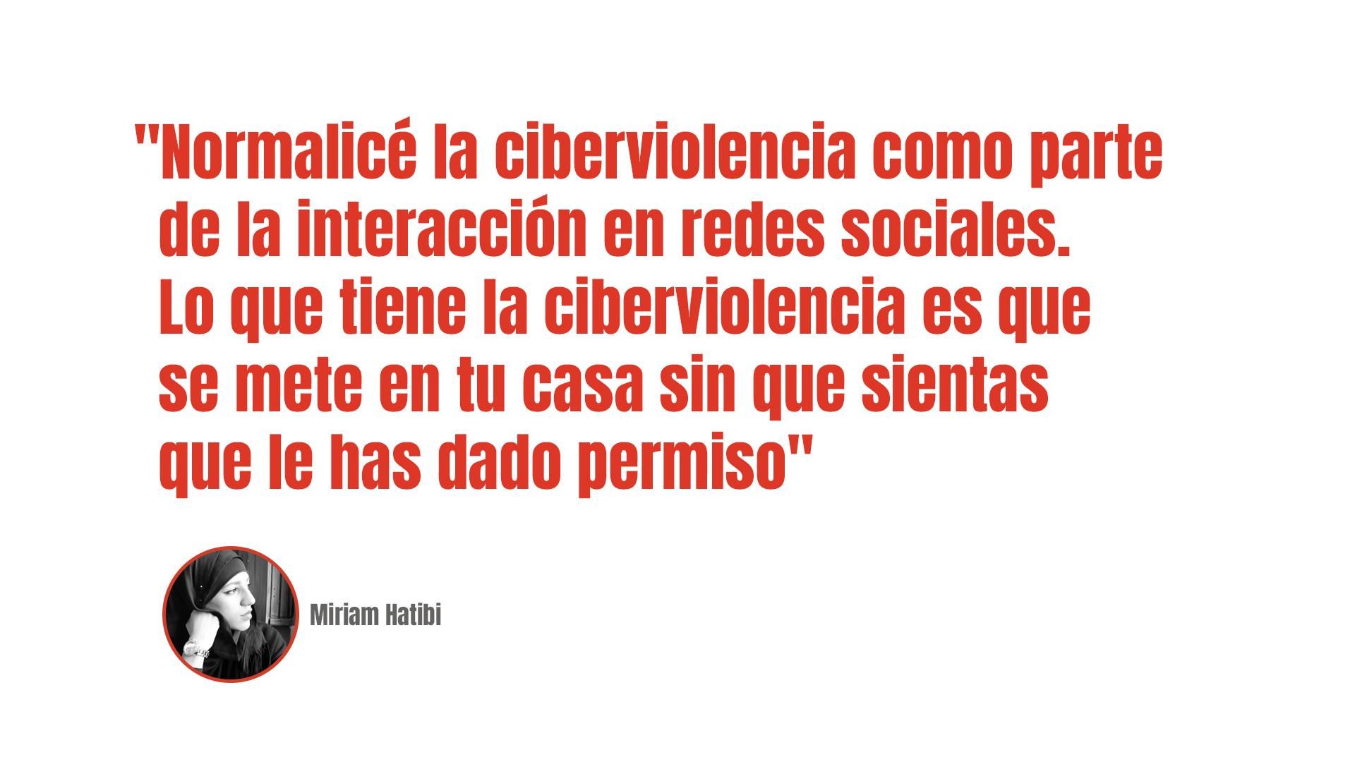Míriam Hatibi: Voces en tu cabeza, los ecos de la ciberviolencia